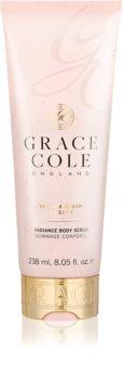 Grace Cole Vanilla Blush & Peony rozjasňujúci telový peeling