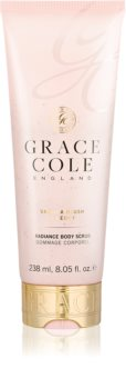 Grace Cole Vanilla Blush & Peony озаряващ пилинг за тяло