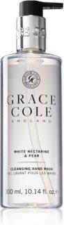 Grace Cole White Nectarine & Pear sapone liquido delicato per le mani