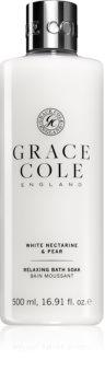 Grace Cole White Nectarine & Pear gel doccia e bagno rilassante