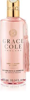 Grace Cole Vanilla Blush & Peony upokojujúci sprchový gél