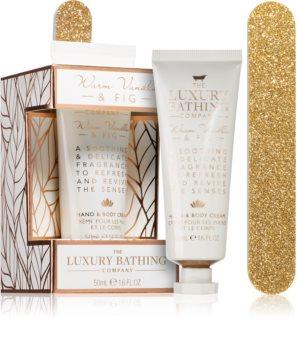 Grace Cole Luxury Bathing Warm Vanilla & Fig dárková sada (na ruce a nehty)