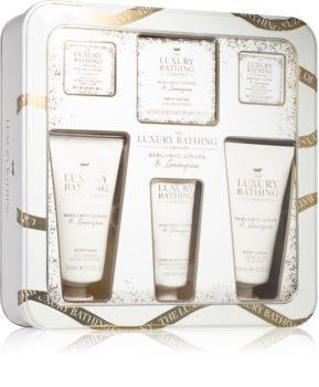 Grace Cole Luxury Bathing Bergamot Ginger & Lemongrass darčeková sada (na telo)