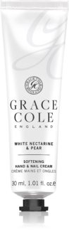 Grace Cole White Nectarine & Pear zjemňující krém na ruce a nehty