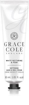 Grace Cole White Nectarine & Pear zjemňujúci krém na ruky a nechty