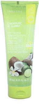 Grace Cole Fruit Works Coconut & Lime osvěžující tělový peeling