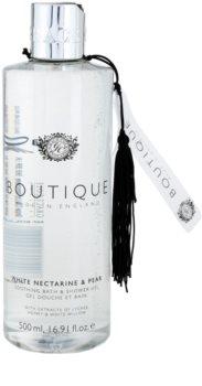 Grace Cole Boutique White Nectarine & Pear gel de baño y ducha calmante