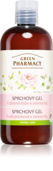 Green Pharmacy Body Care Rose & Green Tea gyengéd tusfürdő gél