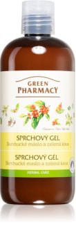 Green Pharmacy Body Care Shea Butter & Green Coffee gel de douche rafraîchissant