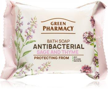 Green Pharmacy Sage & Thyme přírodní tuhé mýdlo s antibakteriální přísadou