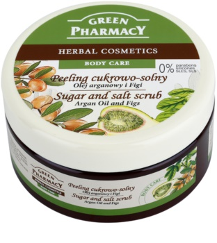Green Pharmacy Body Care Argan Oil & Figs scrub con zucchero e sale