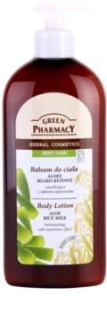 Green Pharmacy Body Care Aloe & Rice Milk ενυδατικό γαλάκτωμα σώματος με θρεπτικό αποτέλεσμα