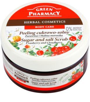 Green Pharmacy Body Care Cranberry & Cloudberry scrub con zucchero e sale