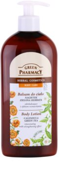 Green Pharmacy Body Care Calendula & Green Tea latte corpo ringiovanente effetto fortificante