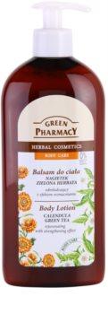 Green Pharmacy Body Care Calendula & Green Tea loção de rejuvenescimento com efeito fortalecedor