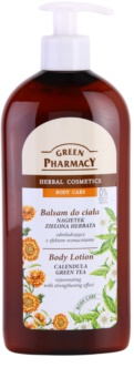 Green Pharmacy Body Care Calendula & Green Tea loción corporal rejuvenecedora con efecto fortalecedor