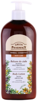 Green Pharmacy Body Care Olive & Argan Oil lait corporel nourrissant pour un effet naturel