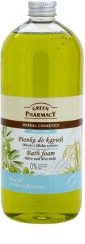 Green Pharmacy Body Care Olive & Rice Milk pena do kúpeľa