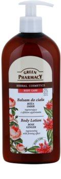 Green Pharmacy Body Care Rose & Ginger leite corporal regenerador com efeito reafirmante