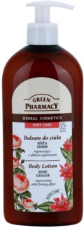 Green Pharmacy Body Care Rose & Ginger regenerační tělové mléko se zpevňujícím účinkem