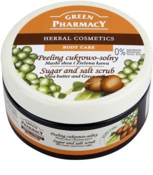 Green Pharmacy Body Care Shea Butter & Green Coffee scrub con zucchero e sale