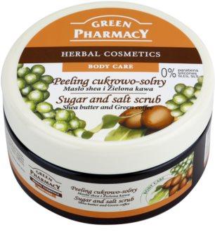Green Pharmacy Body Care Shea Butter & Green Coffee Απολεπιστικό ζάχαρης-αλατιού