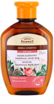 Green Pharmacy Body Care Sandalwood & Neroli & Rose olio da bagno