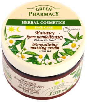 Green Pharmacy Face Care Green Tea creme matificante  para pele oleosa e mista