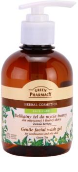 Green Pharmacy Face Care Green Tea απαλό καθαριστικό τζελ για μικτή και λιπαρή επιδερμίδα