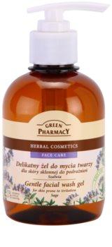 Green Pharmacy Face Care Sage sanftes Reinigungsgel für Haut mit Neigung zu Reizungen