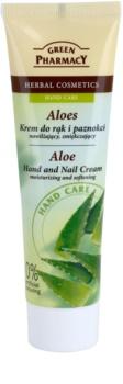 Green Pharmacy Hand Care Aloe Fugtgivende og blødgørende creme til hænder og negle