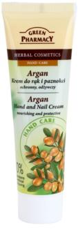 Green Pharmacy Hand Care Argan crème nourrissante et protectrice mains et ongles