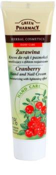 Green Pharmacy Hand Care Cranberry Fugtgivende håndcreme og negle med lysnende effekt