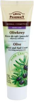 Green Pharmacy Hand Care Olive crema nutritiva y protectora para manos y uñas
