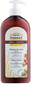 Green Pharmacy Body Care Oat & Macadamia Oil loção corporal para hidratar e suavizar a pele