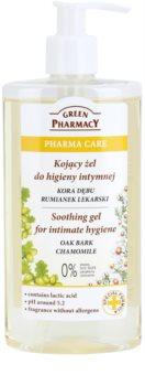 Green Pharmacy Pharma Care Oak Bark Chamomile gel apaziguador para higiene íntima