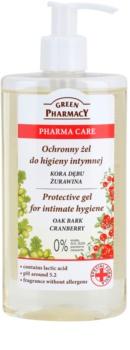 Green Pharmacy Pharma Care Oak Bark Cranberry gel protector para la higiene íntima