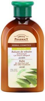 Green Pharmacy Hair Care Aloe bálsamo para cabello teñido y químicamente tratado