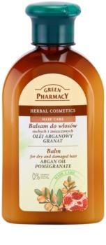 Green Pharmacy Hair Care Argan Oil & Pomegranate balsamo per capelli rovinati e secchi