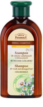 Green Pharmacy Hair Care Chamomile shampoo per capelli deboli e danneggiati