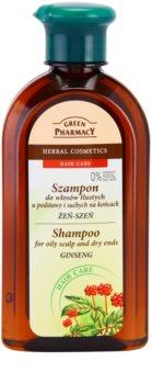 Green Pharmacy Hair Care Ginseng шампоан за мазен скалп и сухи краища на косата