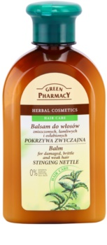 Green Pharmacy Hair Care Stinging Nettle balsamo per capelli danneggiati, fragili e indeboliti