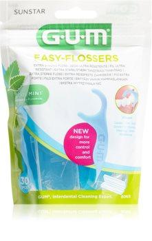 G.U.M Easy Floessers экстрамягкая растягивающаяся зубная нить с фтором и ментолом