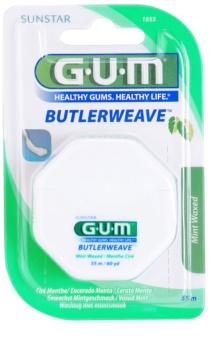 G.U.M Butlerweave вощеная зубная нить с ароматом мяты