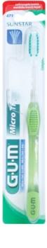 G.U.M Micro Tip Compact escova de dentes soft