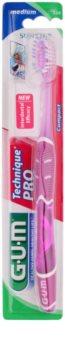 G.U.M Technique PRO Compact Zahnbürste mit Reiseetui Medium