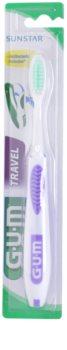 G.U.M Travel escova de dentes para viagem soft