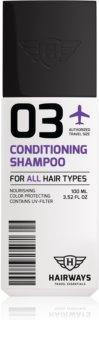 Hairways Travel Essentials szampon oczyszczający do wszystkich rodzajów włosów