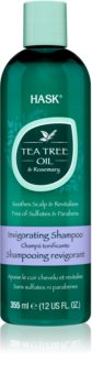 HASK Tea Tree Oil & Rosemary osvěžující šampon pro suchou a svědící pokožku hlavy