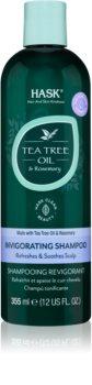 HASK Tea Tree Oil & Rosemary Virkistävä Hiustenpesuaine Kuivalle Ja Kutisevalle Päänahalle